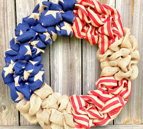 Patriotic Decorations: How to Make a Burlap Wreath