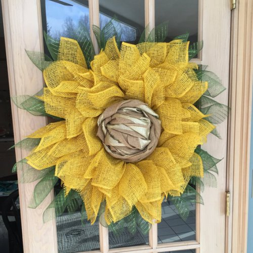 summer wreaths how to make a sunflower wreath