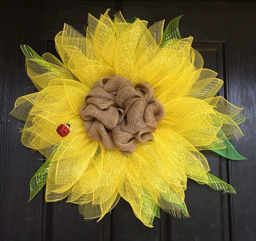 sunflower wreaths tutorial