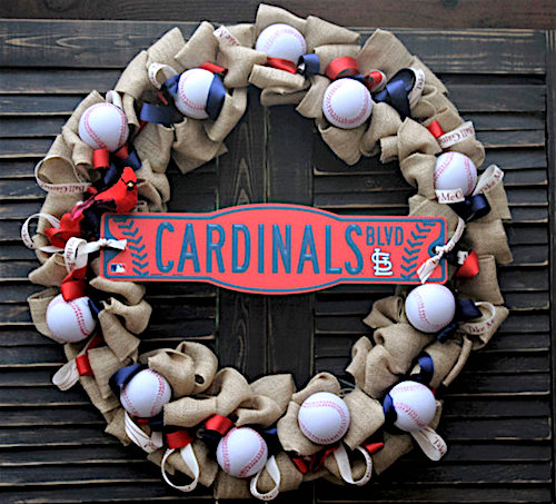 baseball decorations wreath idea