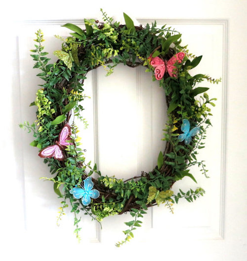 butterfly decorations wreath