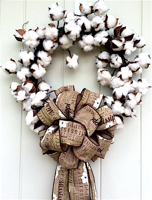 cotton-wreath-cotton-boll craft