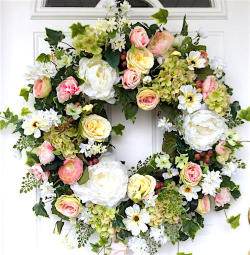 wedding decorations floral wreath