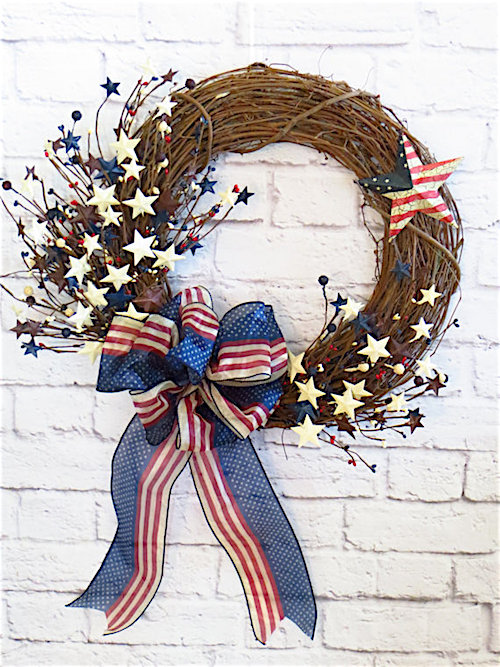 4th of July Decorations Wreath Tutorial