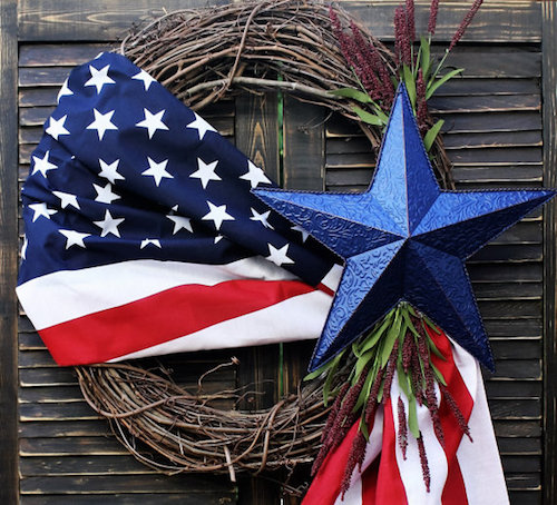 4th of july wreath decoration