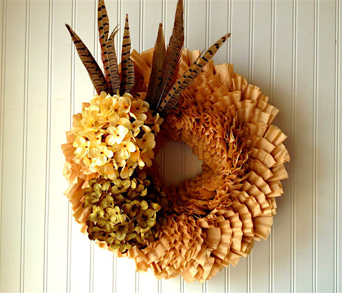 coffee filter wreath paper craft