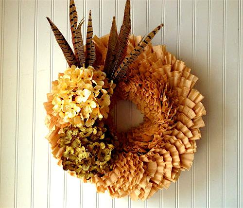 coffee filter wreath paper craft