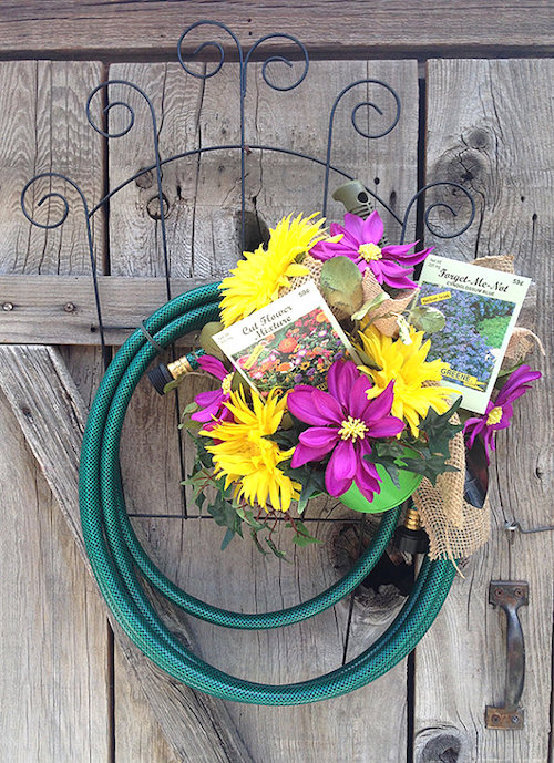 door wreaths garden hose