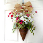 Using Flower Baskets for a Front Door Wreath