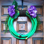 How to Make Garden Water Hose Door Wreaths