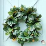 How to Make a Natural Magnolia Wreath