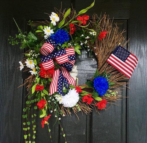 patriotic 4th of july wreath ideas