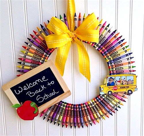 back to school wreath ideas