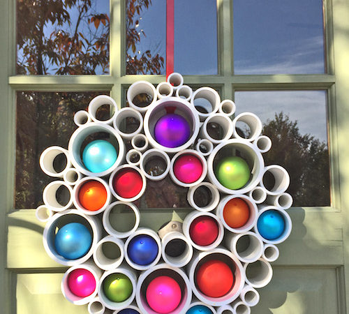 How to Use PVC Pipe for a Recycled Art Wreath