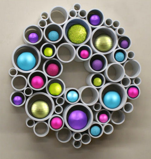 How to make a christmas decor out of recycled materials - How To Use Pvc Pipe For A Recycled Art Wreath