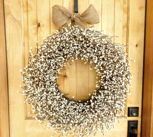 How To Make a Wedding Wreath from Grapevine