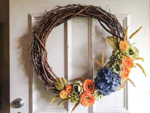 fall decorations how to make a rustic decor wreath - Rustic Decorations