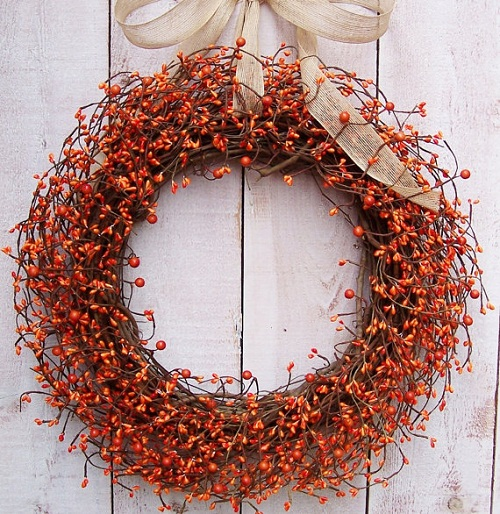 Grapevine Wreath Fall Decorating Ideas