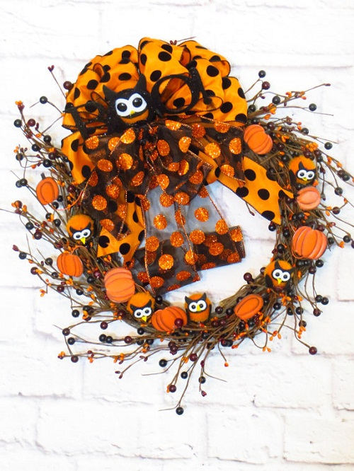 halloween grapevine wreath ideas