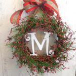 How to Make a Christmas Wreath with Monogram Letter