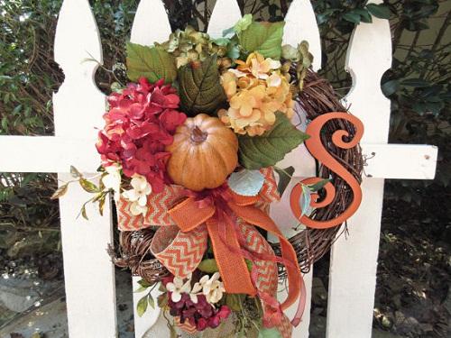 fall wreaths pumpkin decor