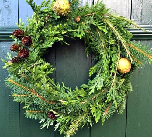 How to Make a Simple Holiday Pine Wreath