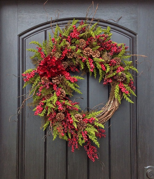 how to make a rustic grapevine christmas wreath - How To Make A Christmas Wreath