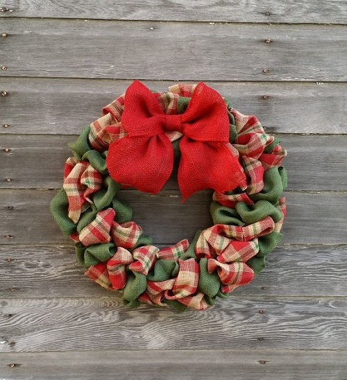 xmas wreaths christmas burlap wreath