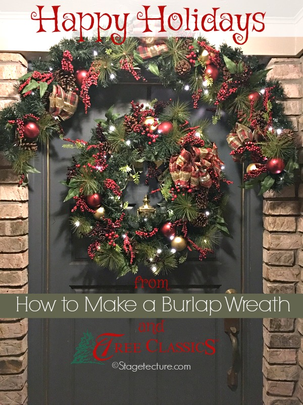 Celebrating the Holidays with a Tree Classics Christmas Wreath