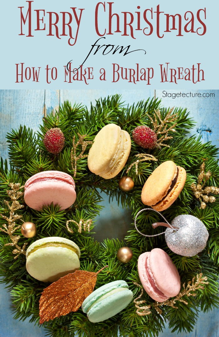 Merry Christmas from How To Make a Burlap Wreath!