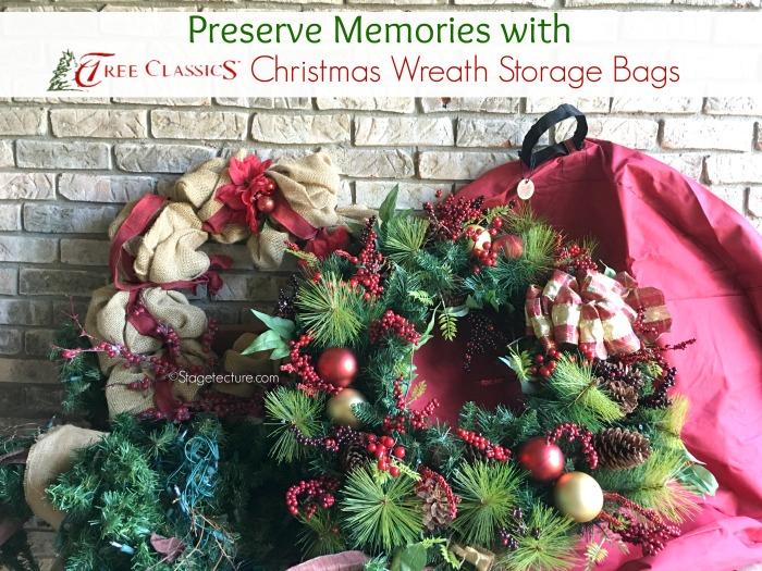 Christmas wreath storage bags Tree Classics