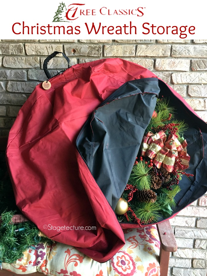 christmas wreath storage bags open bag