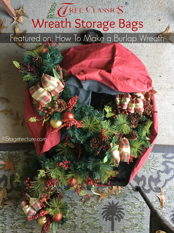 Christmas wreath storage bags wreath garland