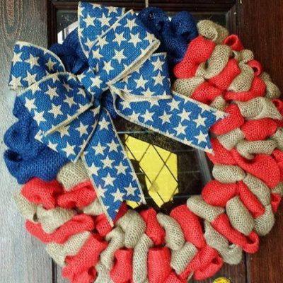 Patriotic Decorations: How to Make a Burlap Wreath