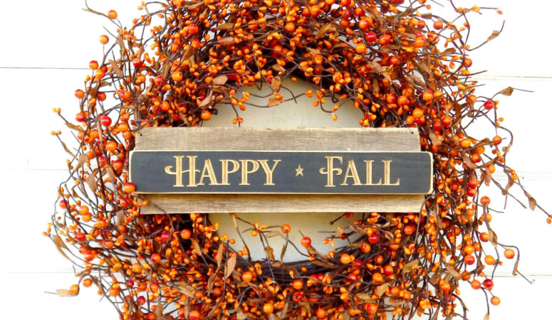How to Make a Beautiful Fall Door Wreath