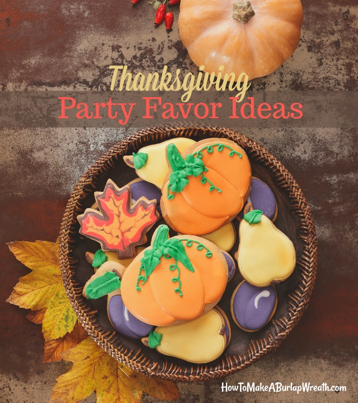 Thanksgiving entertaining ideas cookies