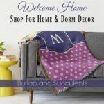 New Home Decor Shop:Burlap and Succulents Home & Dorm Decor
