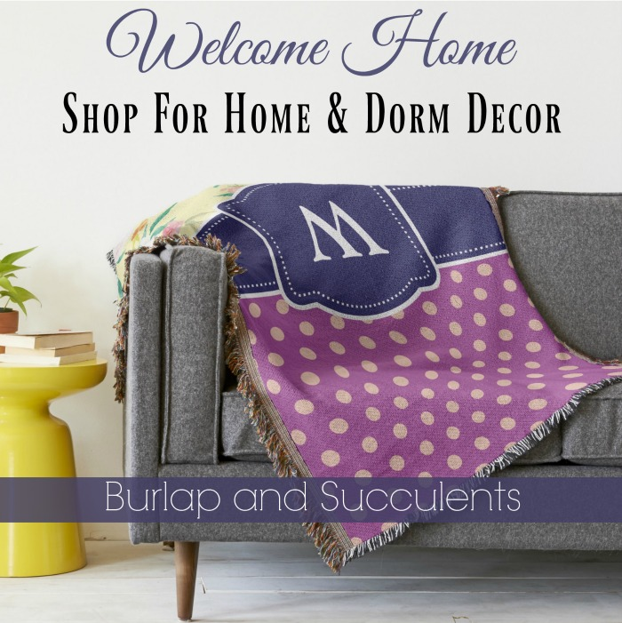burlap-and-succulents_monogram_throw_blanket_watercolor_floral_purple