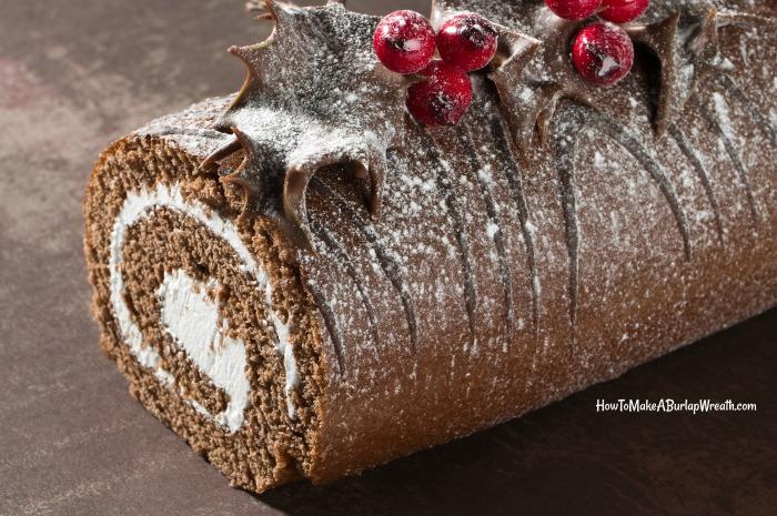 christmas dessert christmas yule log