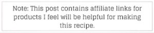 disclosure recipe
