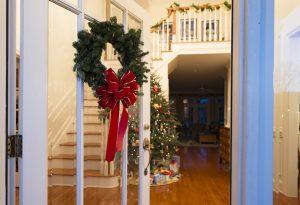 Winter Stair Decor