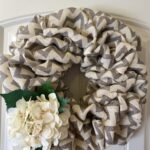 How to Make a Spring Burlap Wreath with a Modern Twist