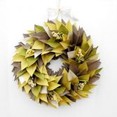 How to Make a Holiday Paper Bag Wreath (Video)