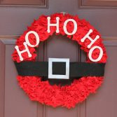 How to Make a Felt Christmas Wreath (Video)