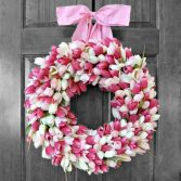 How to Make Pretty Tulip Door Wreaths