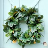 How to Make a Natural Magnolia Wreath