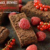 Gluten Free Dessert: Mocha Like Homemade Brownies with Fresh Raspberries