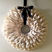 How to Make a Paper Flower Door Wreath