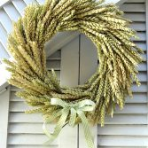 How to Make a Fall Wheat Wreath Tutorial