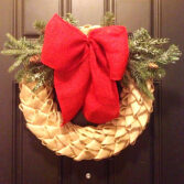 How to Make a Chevron Petal Burlap Wreath (Video)